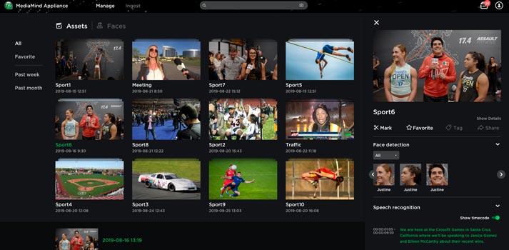 User interface of TVU MediaMind