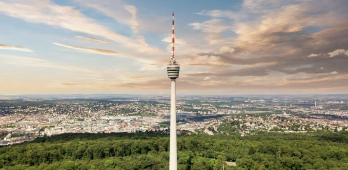 Television Tower at Stuttgard that will be deployed by new 5G initiative