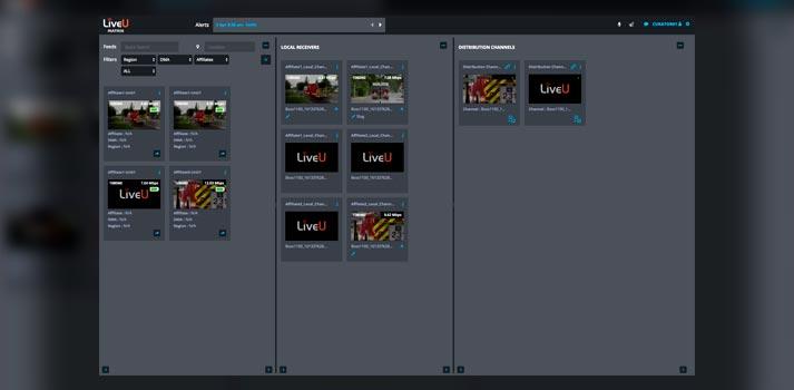 UI of LiveU Matrix software