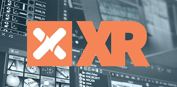 Logo of Vizrt XR, a solution included in Vizrt's Flexible Access