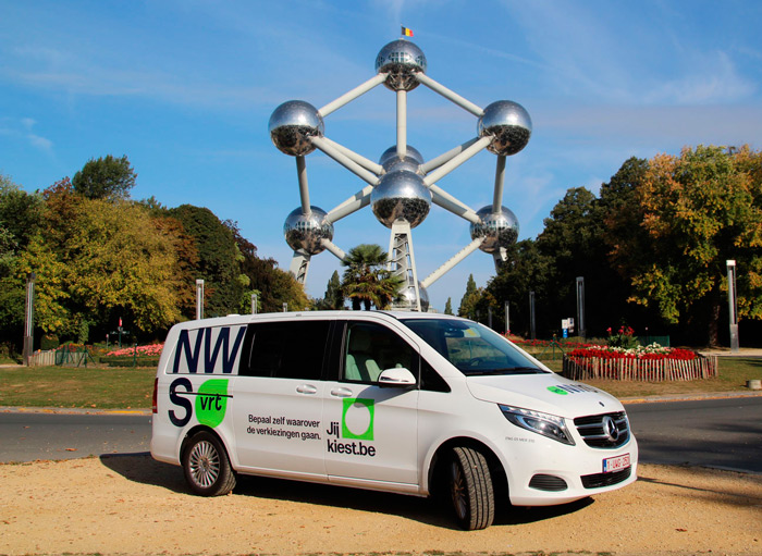 VRT's ENG developed by broadcast solutions next to the Atomium