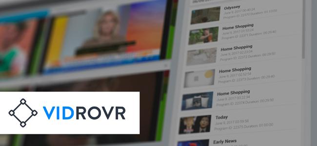 Logo of Vidrovr with video footage