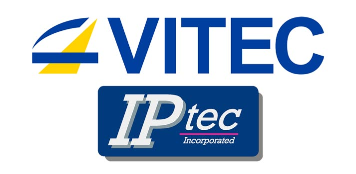 Logos of Vitec and IPTec inc