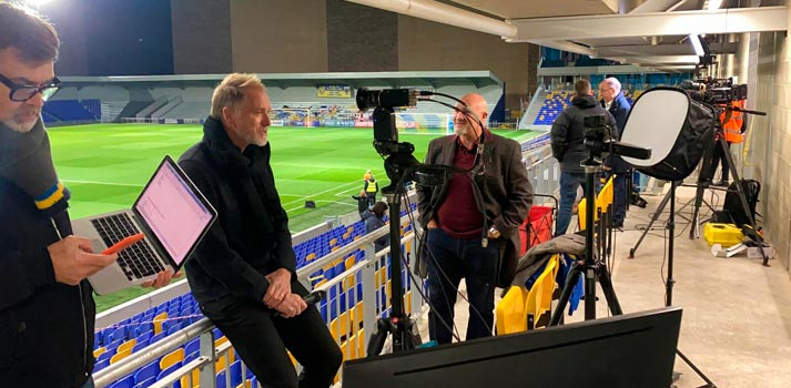 Broadcast Solutions production - Wimbledon football team