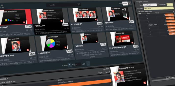 User interface of Ross Video