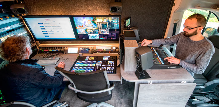 New OB Van of RTV Drenthe with Yamaha mixing console