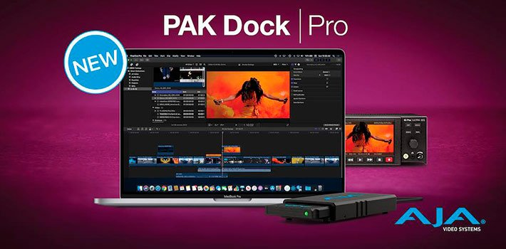 AJA premieres PAK Dock Pro, its new compact media reader