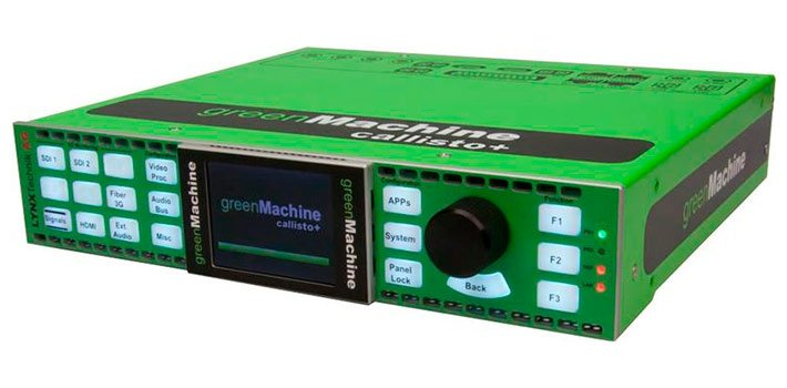 Greenmachine releases callisto+ its new audio and video processing platform