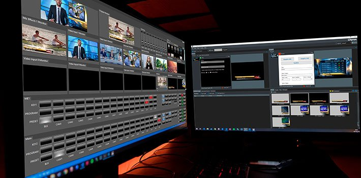 Chyron premieres its Prime Live Platform and a new Software-Based 2-M/E Switcher