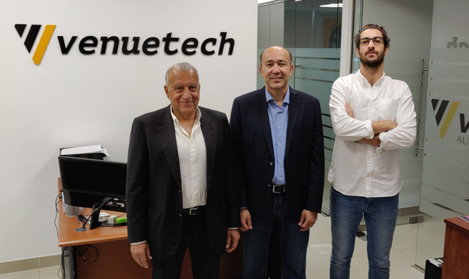 Part of the team of Dubai's Venuetech
